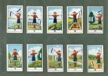 Cgarette cards set Scouts Signalling series 1922 by  B.A.T